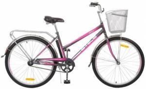 """Велосипед Stels Navigator 26"""" 210 Lady V010 Серый/Розовый (с корзиной)"""