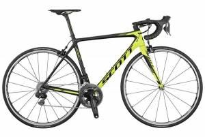 Велосипед Scott Addict RC Di2 Black/Yellow (2017)