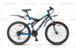 Велосипед Stels Navigator V 26 (2015) Черный/Серебристый/Голубой
