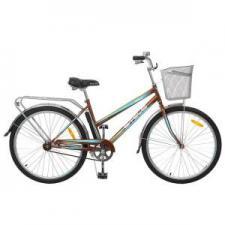"""Велосипед Stels Navigator 26"""" 210 Lady V010 Золотистый/Бирюзовый (с корзиной)"""