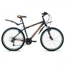 """Велосипед 26"""" Forward Apache 1.0 Черный Матовый 21 ск 17-18 г"""