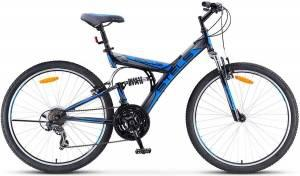 """Велосипед Stels Focus 26"""" V 18 sp V020 Черный/Синий"""