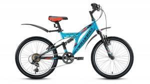 Велосипед Forward Volcano 1.0 20 (2016) Голубой/Черный Матовый