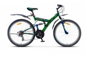 """Велосипед Stels Focus 26"""" V 18 sp V020 Черный/Зеленый"""