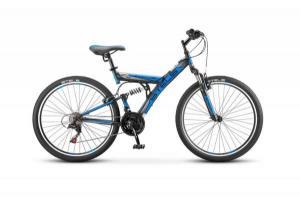 """Велосипед Stels Focus 26"""" V 21 sp V030 Черный/Синий"""