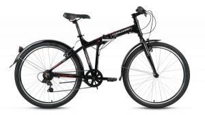 """Велосипед 26"""" Forward Tracer 1.0 Черный 6 ск 17-18 г"""