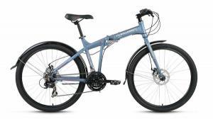 """Велосипед 26"""" Forward Tracer 2.0 Disc Серый Матовый 21 ск 17-18 г"""