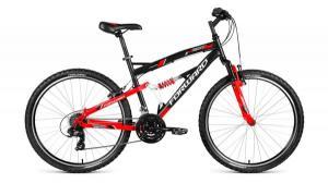 """Велосипед 26"""" Forward Benfica 1.0 Черный/Красный Матовый 18 ск 17-18 г"""