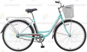 Велосипед Stels Navigator 340 Lady 28 (2016) Светло-зеленый/Красный (с корзиной)