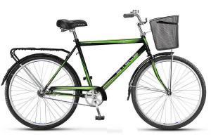 """Велосипед Stels Navigator 26"""" 210 Gent Z010 Хаки (с корзиной)"""