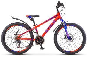 """Велосипед Stels Navigator 24"""" 400 MD V010 Неоновый-красный (LU088428)"""