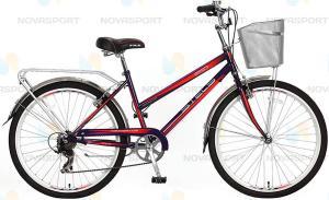 """Велосипед Stels Navigator 26"""" 250 Lady Пурпурный/Красный (с корзиной)"""
