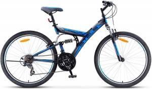 """Велосипед Stels Focus 26"""" V 18 sp V030 Черный/Синий"""