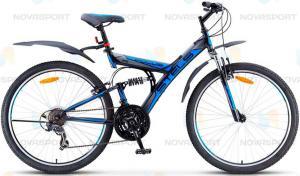 Велосипед Stels Focus V 21 sp 26 (2016) Черный/Серый/Синий