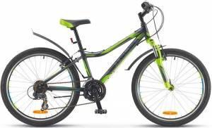 "Велосипед Stels Navigator 24"" 420 V Z010 Черный/Серый/Салатовый"