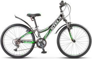 "Велосипед Stels Navigator 24"" 440 V V010 Черный/Хром/Зеленый"