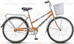 Велосипед Stels Navigator 310 Lady 28 (2016) Коричневый (с корзиной)