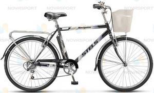 Велосипед Stels Navigator 250 Gent 26 (2016) Темно-серый (с корзиной)