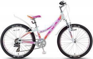 """Велосипед Stels Navigator 24"""" 430 V V020 Белый/Фиолетовый/Оранжевый"""