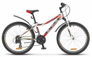 """Велосипед Stels Navigator 24"""" 420 V V020 Белый/Черный/Красный"""