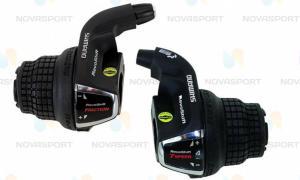 Шифтер Shimano Tourney SL-RS 35 лев/пр 3x7ск тр.+оплетк ESLRS35P7A