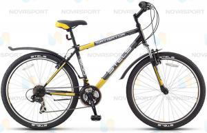 Велосипед Stels Navigator 500 V 26 (2016) Черный/Темно-серый/Желтый