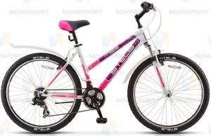 Велосипед Stels Miss 5000 V 26 (2016) Белый/Фиолетовый/Розовый