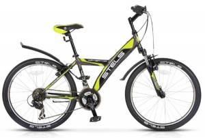 "Велосипед Stels Navigator 24"" 410 V 21 sp V020 Антрацитовый/Черный/Лайм"