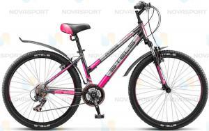 Велосипед Stels Miss 6000 V 26 (2016 г) Серый/Розовый/Серебристый
