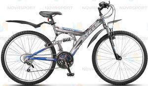 Велосипед Stels Focus V 18 sp 26 (2015) Темно-серый/Синий/Белый (2015)