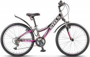 "Велосипед Stels Navigator 24"" 440 V V010 Черный/Хром/Пурпурный"