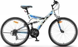 """Велосипед Stels Focus 26"""" V 21 sp V020 Белый/Черный/Голубой"""