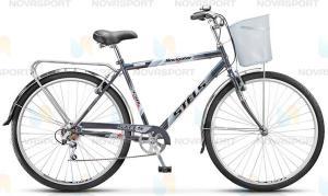 Велосипед Stels Navigator 350 Gent 28 (2016) Черный (с корзиной)