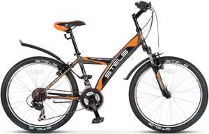 "Велосипед Stels Navigator 24"" 410 V V010 Серый/Оранжевый/Черный"