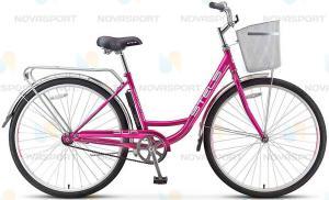 Велосипед Stels Navigator 340 Lady 28 (2016) Пурпурный/Розовый (с корзиной)
