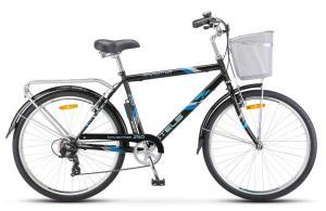 """Велосипед Stels Navigator 26"""" 250 Gent Z010 Чёрный (с корзиной) (LU089100)"""