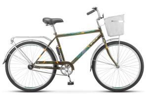 """Велосипед Stels Navigator 26"""" 210 Gent Z010 Чёрный (с корзиной) (LU085337)"""