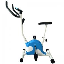 Велотренажер DFC B8013 белый/голубой