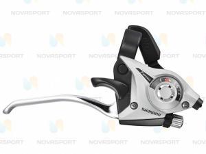 Шифтер/тормозная ручка Shimano Tourney ST-EF51 лев 3ск серебро тр.+оплетк ESTEF51LSBS2P