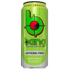 Энергетический напиток BANG Caffeine Free Sour Heads 16oz яблоко