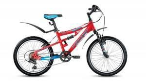 Велосипед Forward Buran 1.0 20 (2017) Красный/Голубой Матовый