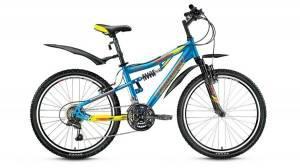 Велосипед Forward Cyclone 2.0 24 (2017) Синий/Желтый Матовый