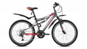 Велосипед Forward Cyclone 2.0 24 (2017) Серый/Красный Матовый