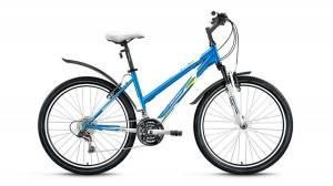 Велосипед Forward Iris 1.0 26 (2017) Белый/Синий Матовый