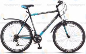 Велосипед Stels Navigator 500 V 26 (2016) Черный/Темно-серый/Синий