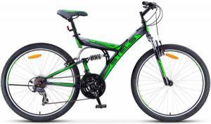 """Велосипед Stels Focus 26"""" V 18 sp V030 Черный/Зеленый"""