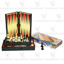 Игра настольная 3 в 1 магнитная (шашки, шахматы, нарды) 3108