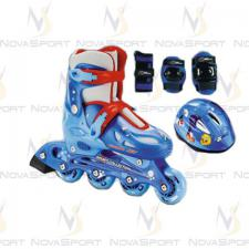 Набор COMBO JET синий (6) (Шлем,защита)
