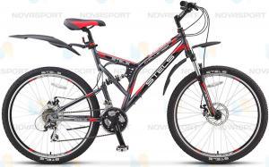 Велосипед Stels Challenger MD 26 (2015) Темно-серый/Черный/Красный