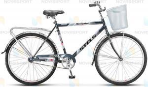 Велосипед Stels Navigator 210 Gent 26 (2016) Голубой/Серебристый (с корзиной)